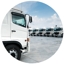 fleet of white trucks - Mighty Kiwi Commercial - mechanic christchurch